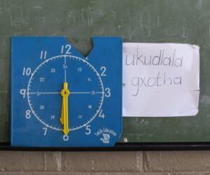 African classroom Blackboard