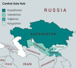 Map Central Asia Hub