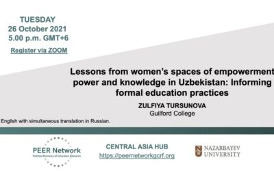 Lessons from women's spaces of empowerment, power and knowledge in Uzbekistan: Informing formal education practices