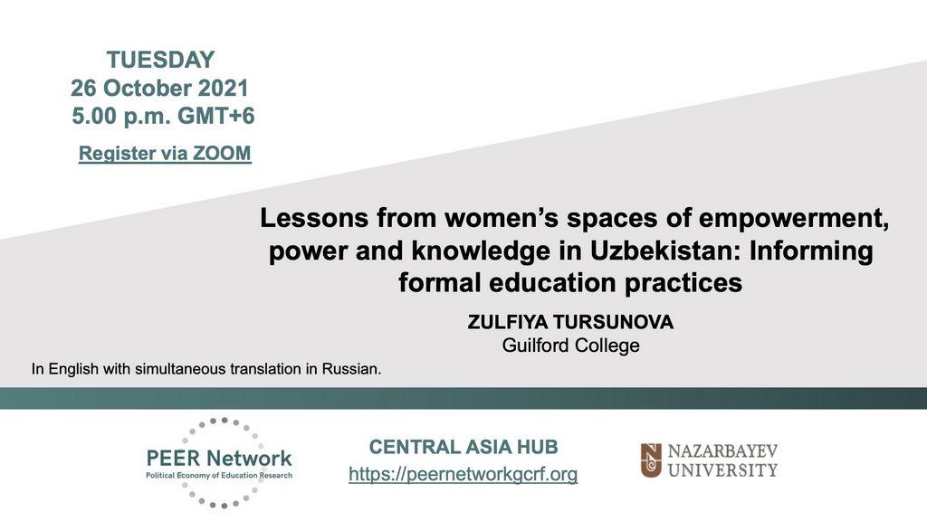 26 October seminar poster in English