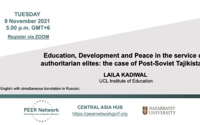 Education, Development and Peace in the service of authoritarian elites: the case of Post-Soviet Tajikistan