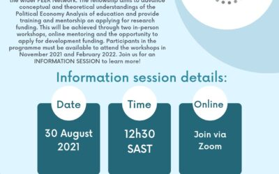 Africa Hub Information Session 30th August – Research and Practice Fellowships in Political Economy of Education