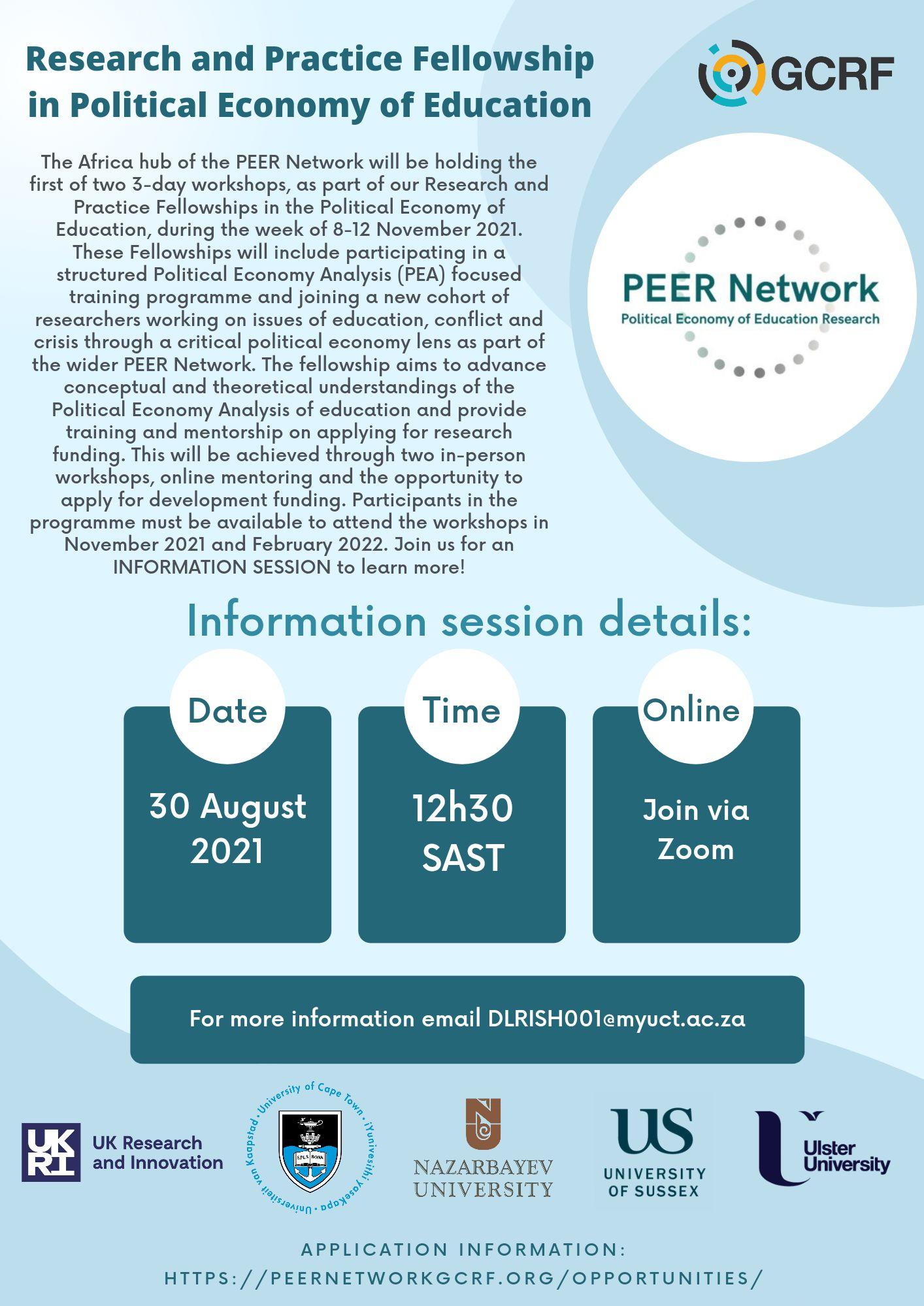 Information Session Flyer